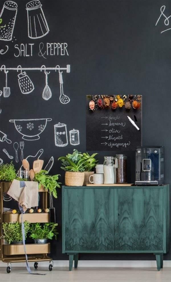 Memoboard Dark Spoons in der Küche