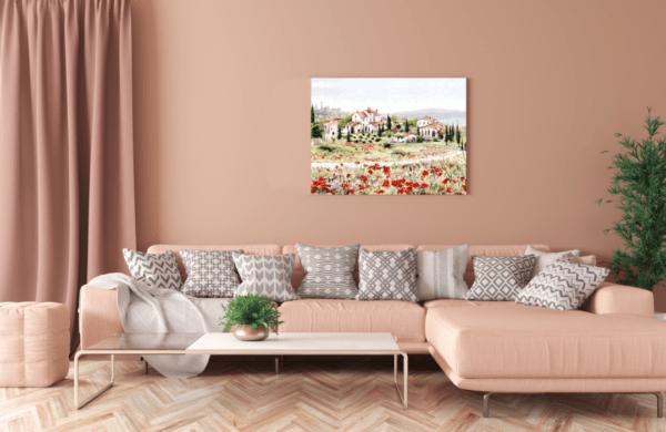 Leinwandbild Red Meadow im Wohnzimmer