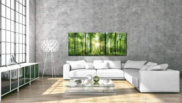 Glasbild Sunlight im Wohnzimmer