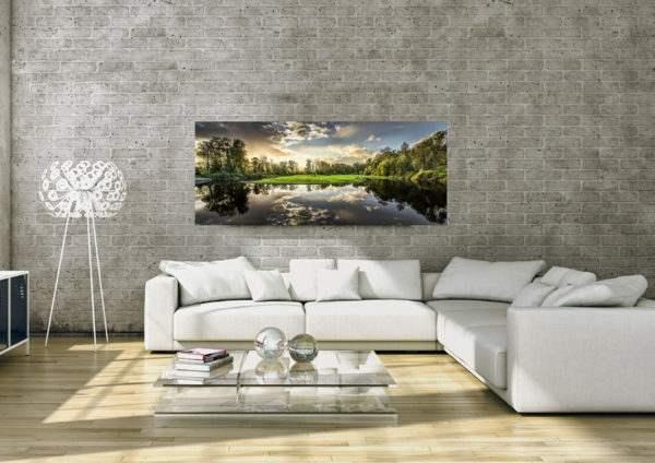 Glasbild Nature – Panorama im Wohnzimmer