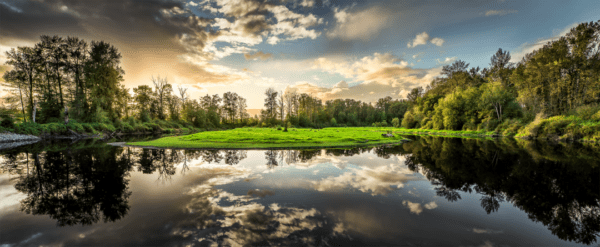 Glasbild Nature – Panorama
