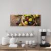 Glasbild Oliven Variation in der Küche