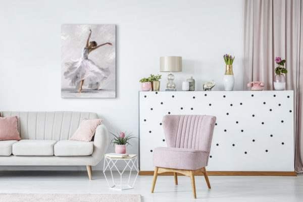 Leinwandbild White Dancer im Wohnzimmer