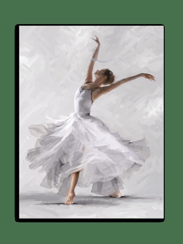 Leinwandbild White Dancer