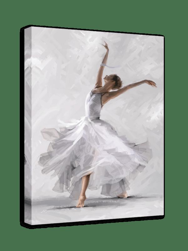 Leinwandbild White Dancer Ansicht schräg