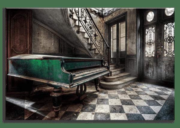 Glasbild Piano