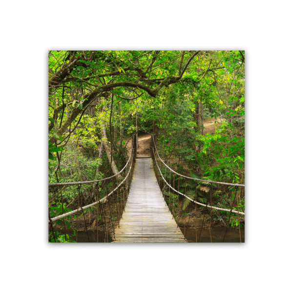Glasbild Hängebrücke