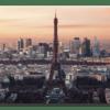 Glasbild Eiffelturm