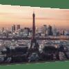Glasbild Eiffelturm Ansicht schräg