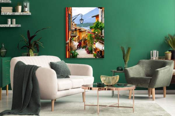 Leinwandbild Como im Wohnzimmer