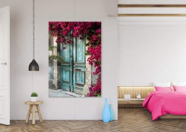 Glasbild Cyprus im Wohnzimmer
