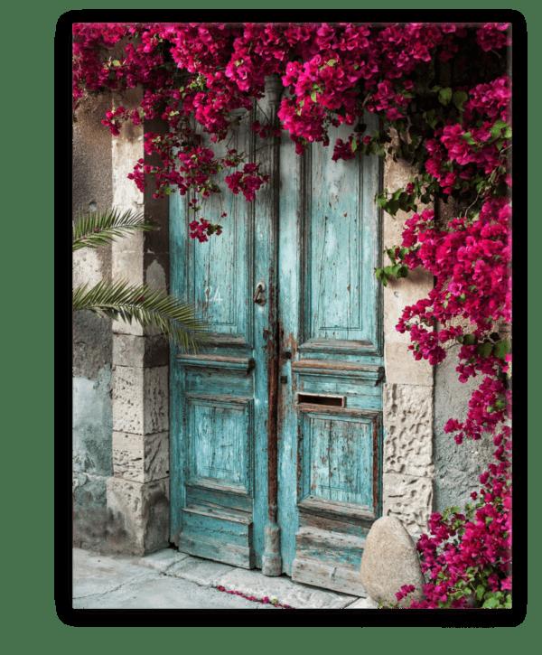 Glasbild Cyprus