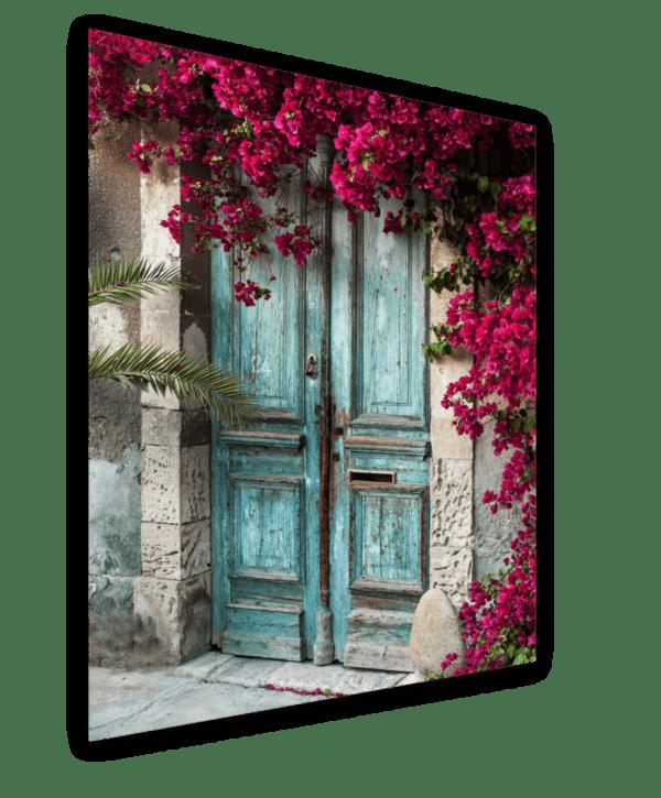 Glasbild Cyprus Ansicht schräg