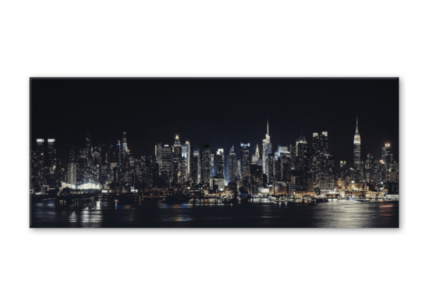 Glasbild Night – Panorama