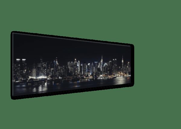 Glasbild Night – Panorama Ansicht schräg