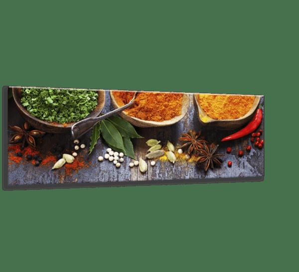 Glasbild Spicy Bowls Ansicht schräg