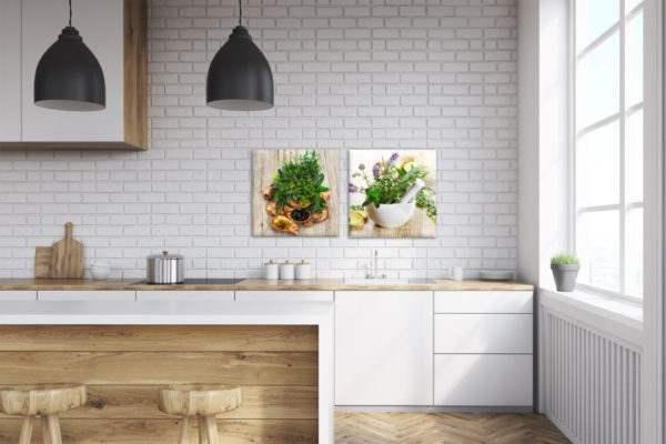 Glasbild Fennel in der Küche