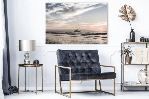 Leinwandbild Yacht – Panorama im Wohnzimmer