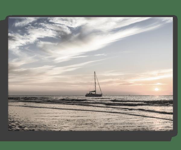 Leinwandbild Yacht – Panorama