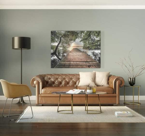 Leinwandbild Lake View im Wohnzimmer