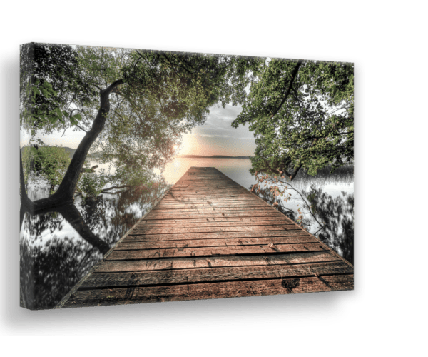 Leinwandbild Lake View Ansicht schräg
