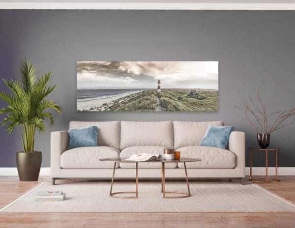 Wandbild Beacon View 1 | Leinwand | 45 x 140 cm im Wohnzimmer