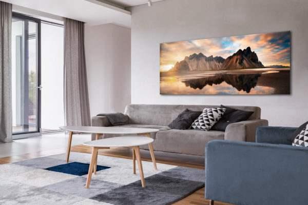 Glasbild Iceland – Panorama im Wohnzimmer