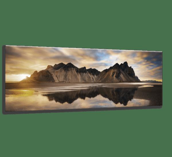 Glasbild Iceland – Panorama Ansicht schräg