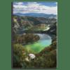 Glasbild Flusslauf