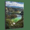 Glasbild Flusslauf Ansicht schräg