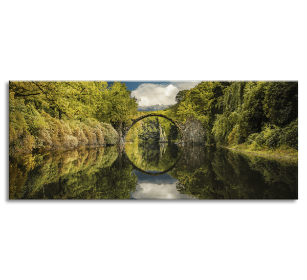 Glasbild Devil´s Bridge – Panorama