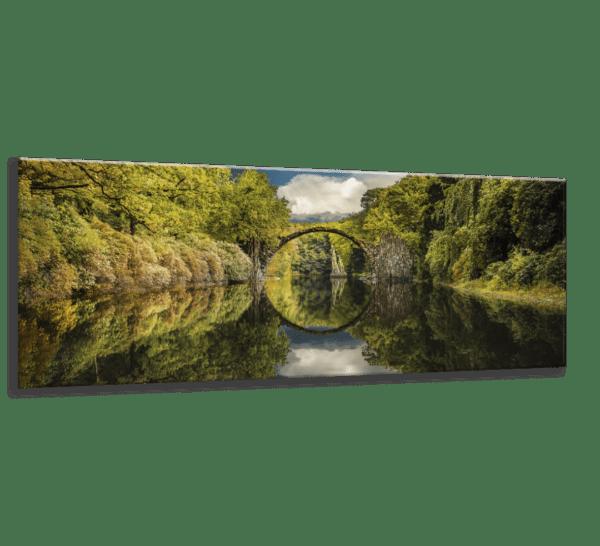 Glasbild Devil´s Bridge – Panorama Ansicht schräg