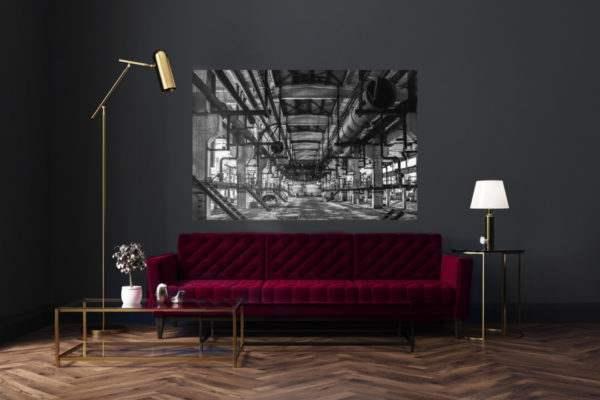 Glasbild Oldie im Wohnzimmer