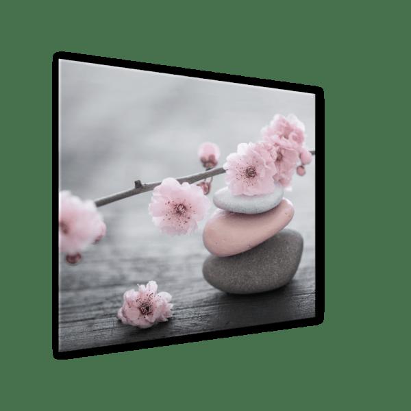 Glasbild Pink Stone Ansicht schräg