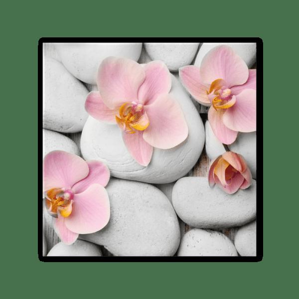 Glasbild White Stones