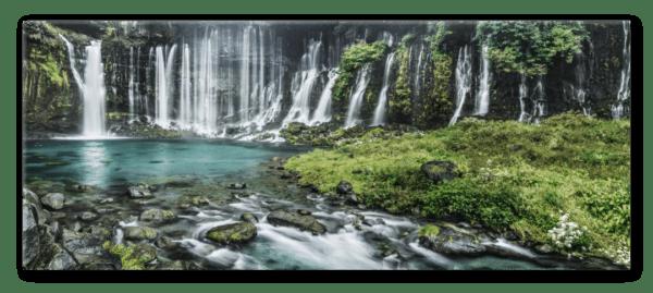 Glasbild Wasserfall