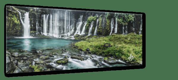 Glasbild Wasserfall Ansicht schräg
