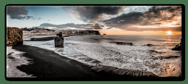 Glasbild Vik – Panorama