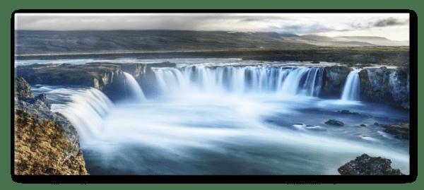 Glasbild Goðafoss – Panorama