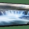 Glasbild Goðafoss – Panorama Ansicht schräg