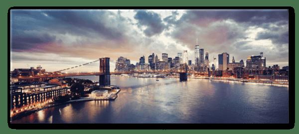 Glasbild Sunset Brooklyn – Panorama