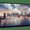 Glasbild Sunset Brooklyn – Panorama Ansicht schräg