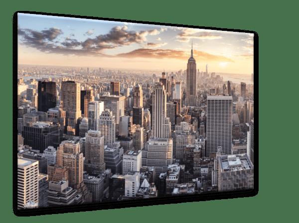 Glasbild New York City Ansicht schräg