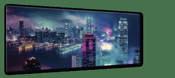 Glasbild Victoria – Panorama Ansicht schräg