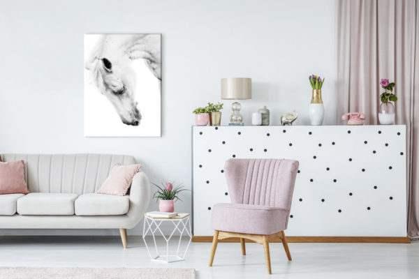 Leinwandbild Horse Portrait im Wohnzimmer