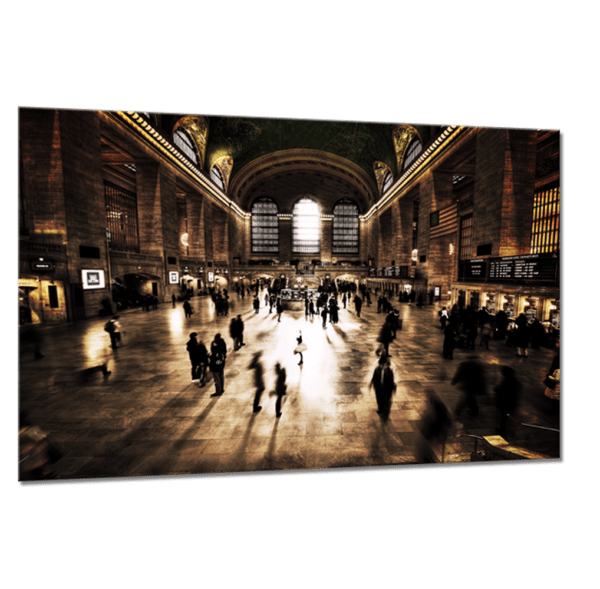 Glasbild Grand Central Ansicht schräg
