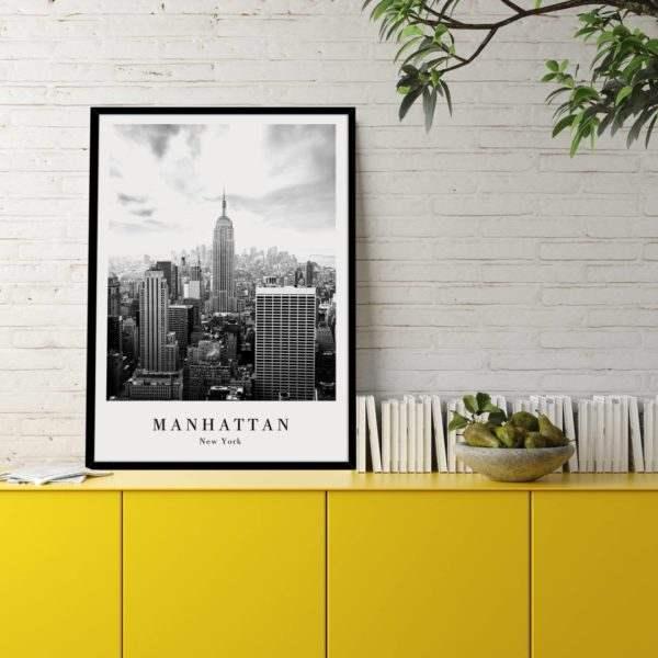 Rahmenbild Manhattan im Wohnzimmer