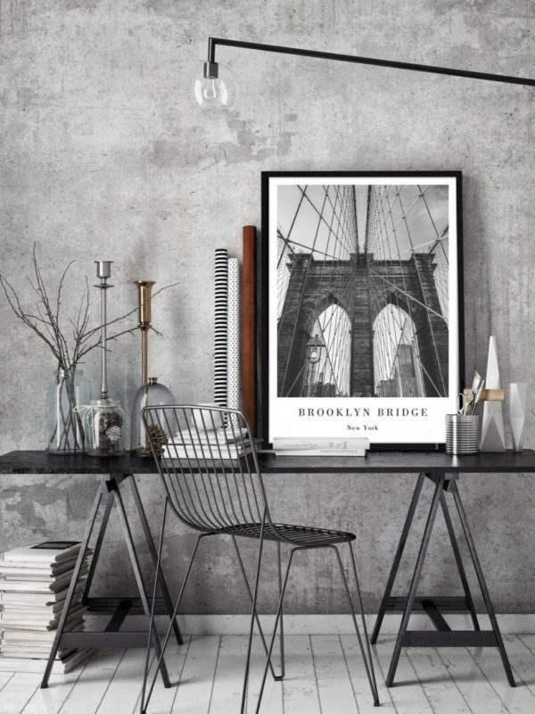 Rahmenbild Brookyln im Arbeitszimmer