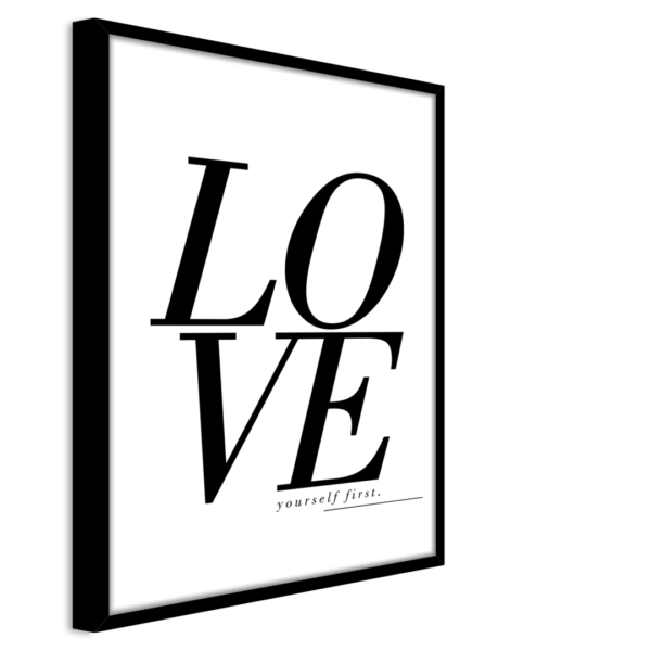 Rahmenbild Love Ansicht schräg