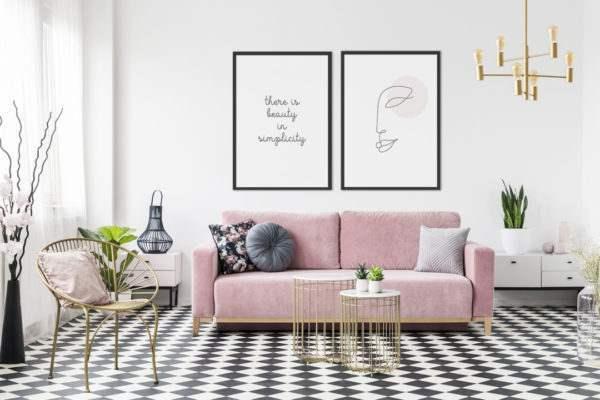 Rahmenbild Beauty im Wohnzimmer